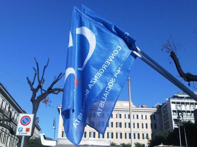 Bandiera Convergenza Socialista CS Nuovo Stato Sociale socialismo sinistra partito socialista