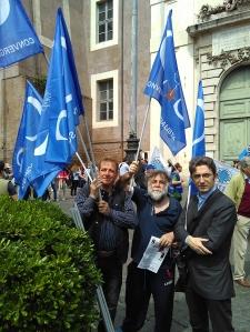 Convergenza Socialista socialismo sinistra partito socialista CS Nuovo Stato Sociale manifestazione contro TTIP