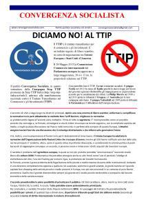 Convergenza Socialista socialismo sinistra partito socialista CS Nuovo Stato Sociale Paginetta TTIP