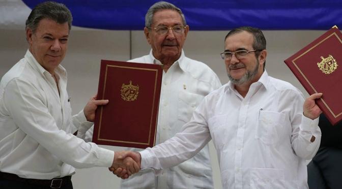 CONVERGENZA SOCIALISTA SULL'ACCORDO DI PACE IN COLOMBIA