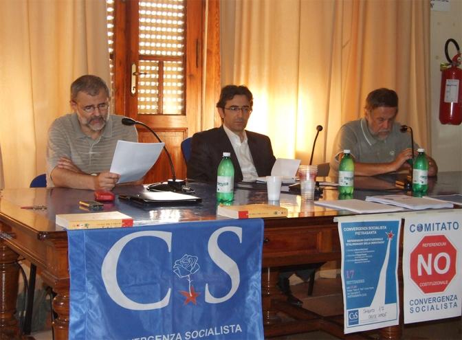 Marco Moriconi, Filippo Russo, Manuel Santoro, Convergenza Socialista, Moriconi, Pietrasanta, referendum