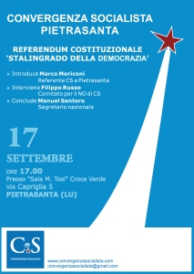Convergenza Socialista a Pietrasanta