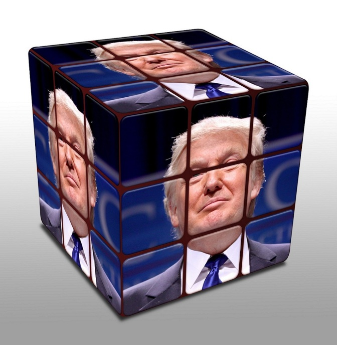 Trump cube protesters cities USA President elected