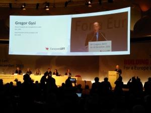 Gregor Gysi, Sinistra Europea, Congresso-2016
