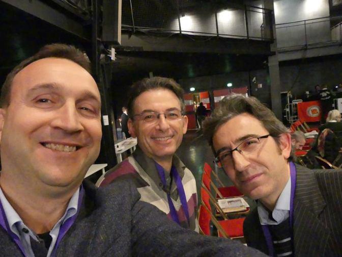 Delegazione CS Forum Marsiglia Sinistra Europea roberto spagnuolo massimiliano grazioli manuel santoro